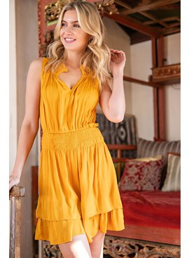 Tiered Smocked Mini Dress