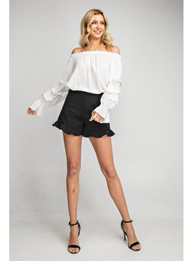 Ruffled Bottom Sweep Shorts