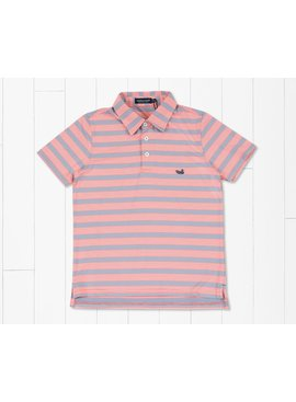 Southern Marsh Youth Bermuda Pensacola Stripe Polo