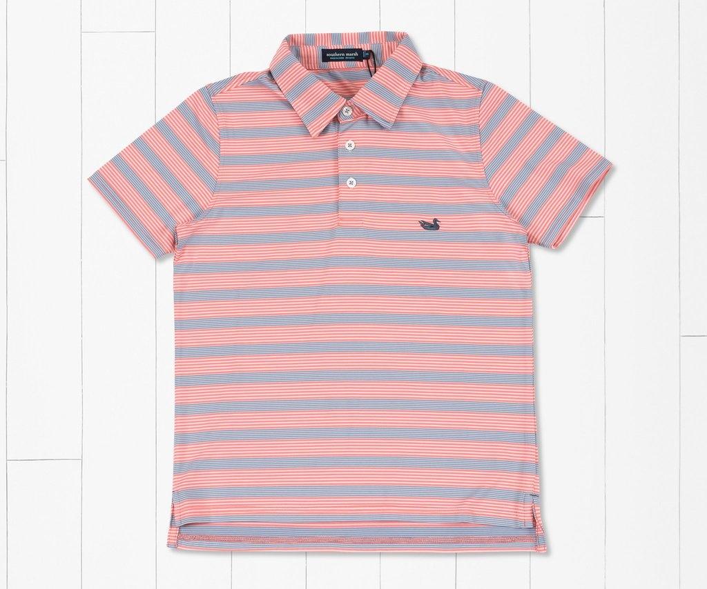 Southern Marsh Youth Bermuda Pensacola Stripe Polo