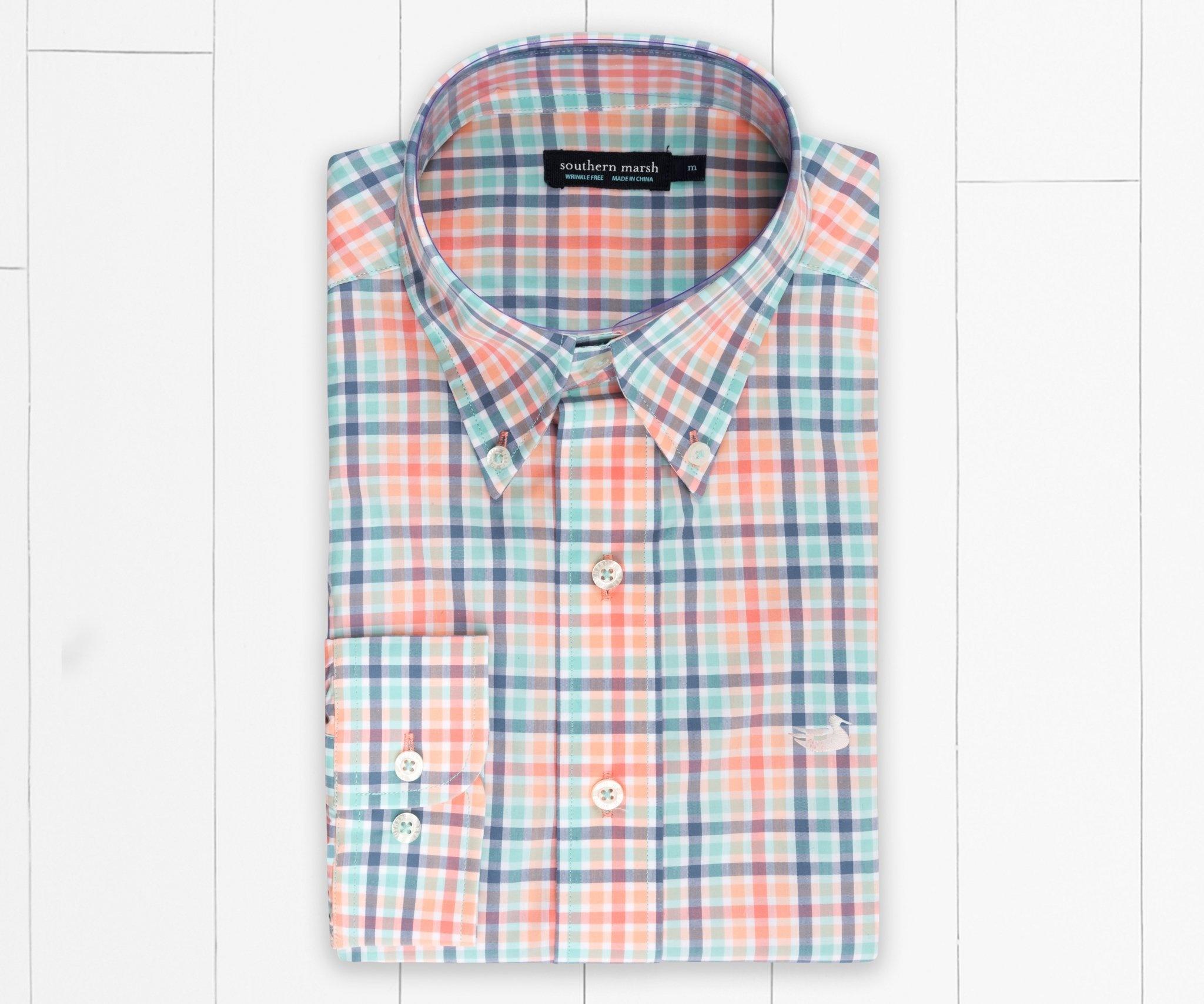 Southern Marsh Southern Marsh Juban Check Dress Shirt - Wrinkle-Free
