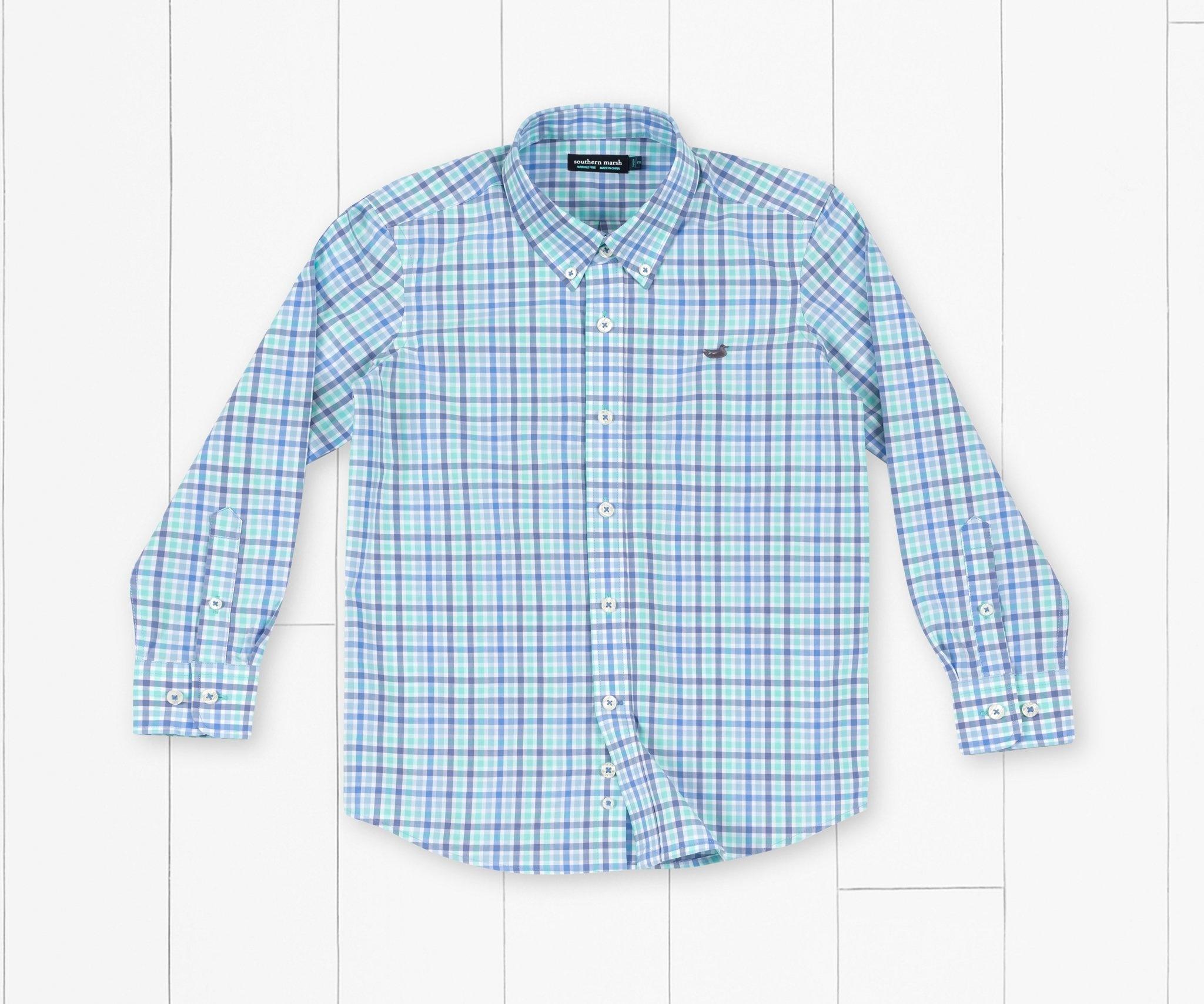 Southern Marsh Youth Juban Check Dress Shirt