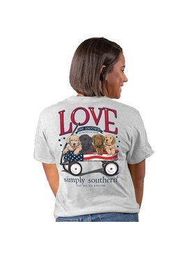 Simply Southern Collection Simply Southern Love One Another in Ash