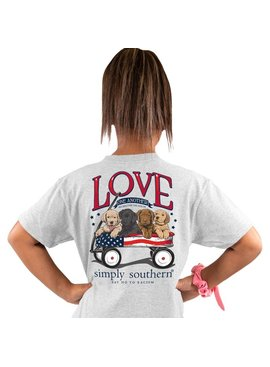 Simply Southern Collection YOUTH Simply Southern Love One Another in Ash