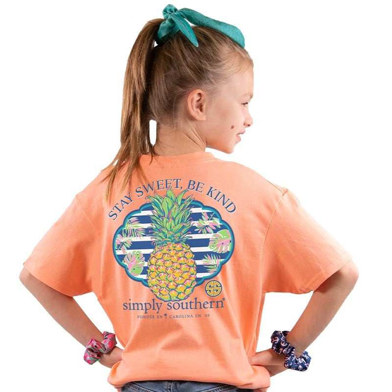Simply Southern Collection YOUTH Stay Sweet Be Kind -Peachy
