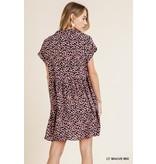 Umgee V-Neck Collared Dress