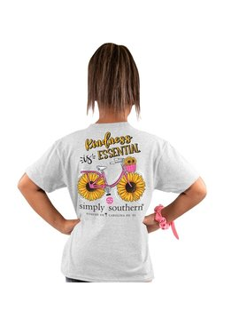 Simply Southern Collection Youth - Kindness is Essential Short Sleeve T-Shirt - Ash