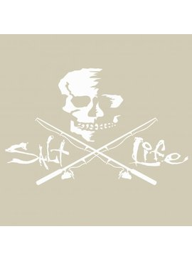 Salt Life Salt Life Skull and Poles Medium Decal