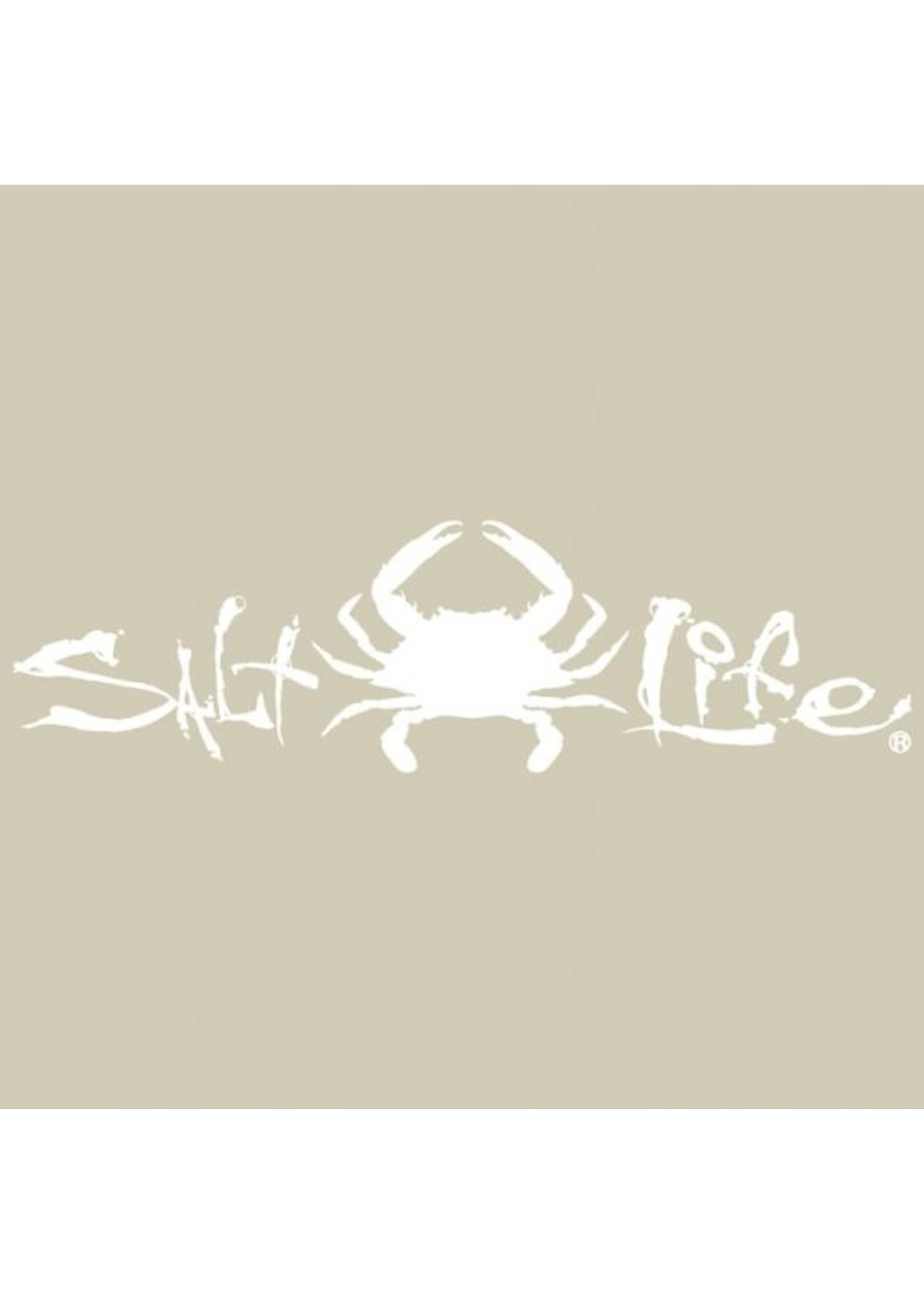 Salt Life Signature Crab Medium Decal