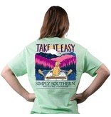 Simply Southern Collection Youth Simply Southern Take It Easy Short Sleeve Shirt