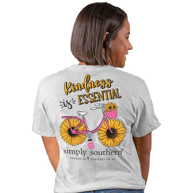 Simply Southern Collection Kindness is Essential Short Sleeve T-Shirt - Ash