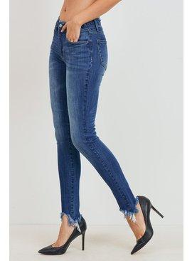 Tricot by C'est Tol Mid Rise Destroy Ankle Jeans