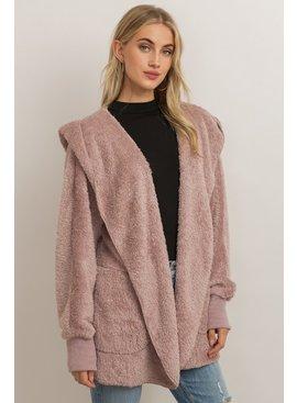 Both Side Fur Open Jacket - One Size