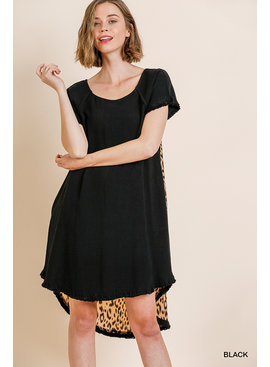 Umgee Animal Print Back Dress