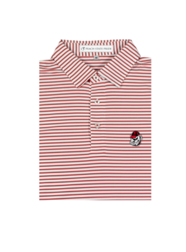 Peach State Pride Standing Dawg Honeysuckle Stripe Polo