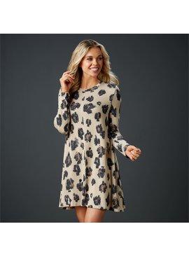 Jillie Long Sleeve Leopard Swing Dress