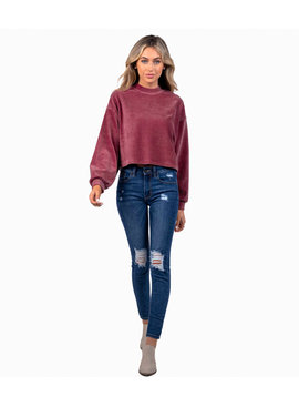 Southern Shirt Cropped Corduroy Sweatshirt