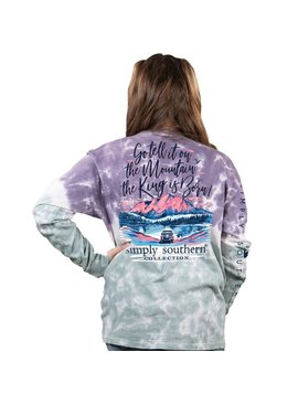 Simply Southern Collection Youth - Go Tell It on the Mountain Long Sleeve T-Shirt - Bohemian
