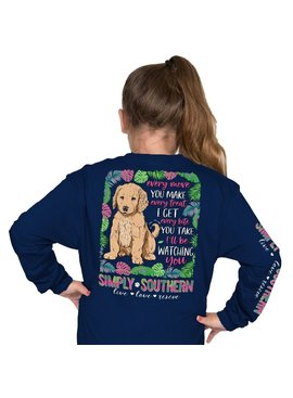 Simply Southern Collection Youth - I'll Be Watching You Long Sleeve T-Shirt - Midnight
