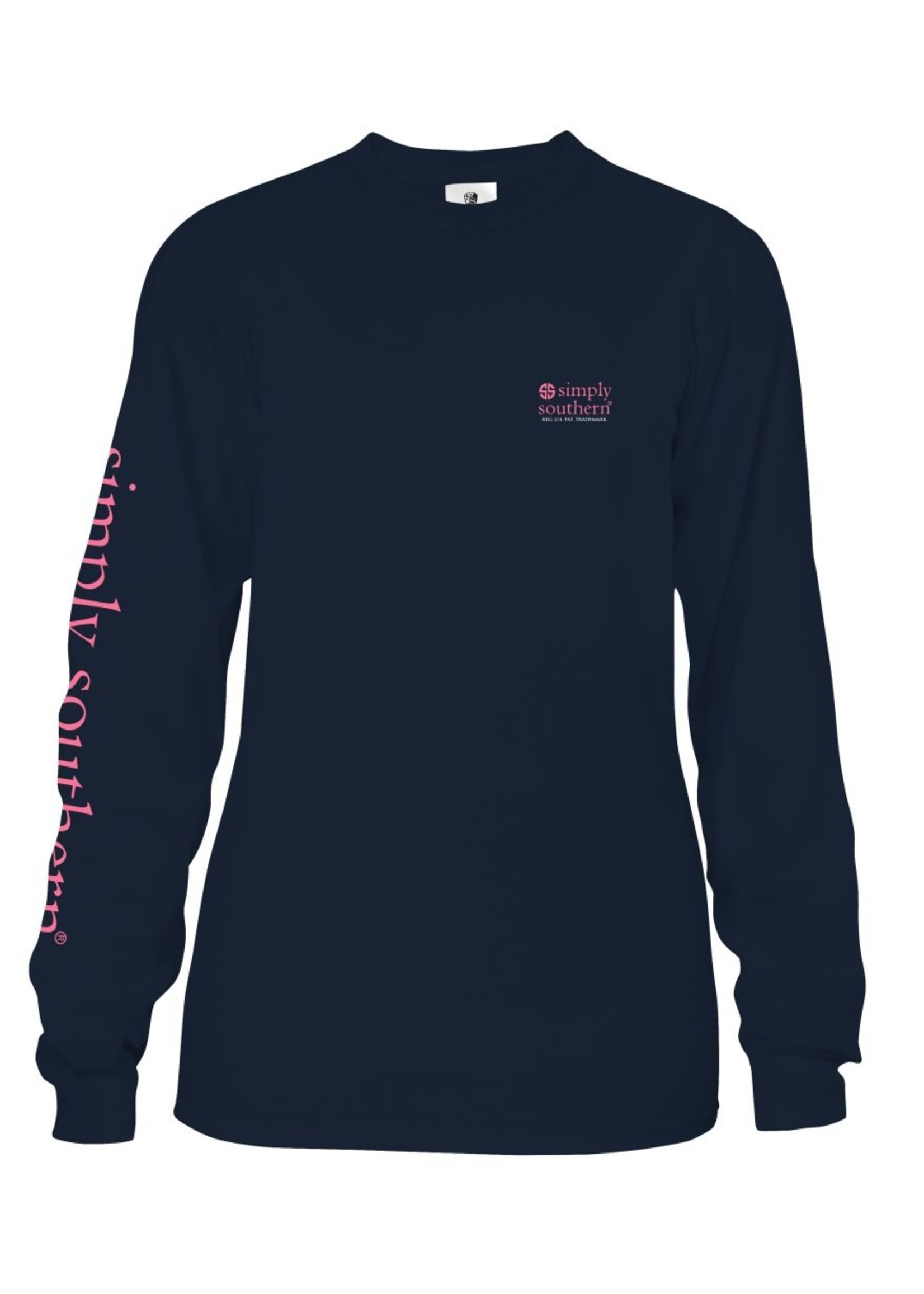 Simply Southern Collection Youth - Sweeten With Kindness Long Sleeve T-Shirt - Midnight