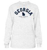 Simply Southern Collection Ga. State Long Sleeve T-Shirt - Ash