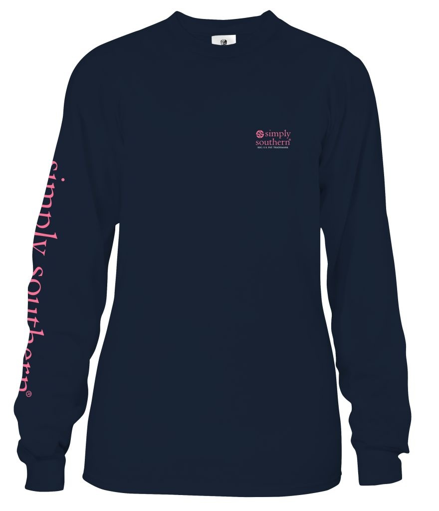 Simply Southern Collection Sweeten With Kindness Long Sleeve T-Shirt - Midnight