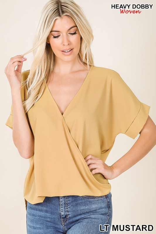 Draped Front Top