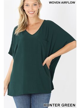 Woven Airflow Short Sleeve Top