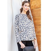Leopard Printed Cotton Top