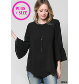 Ruffle Detailed Plus Size Top