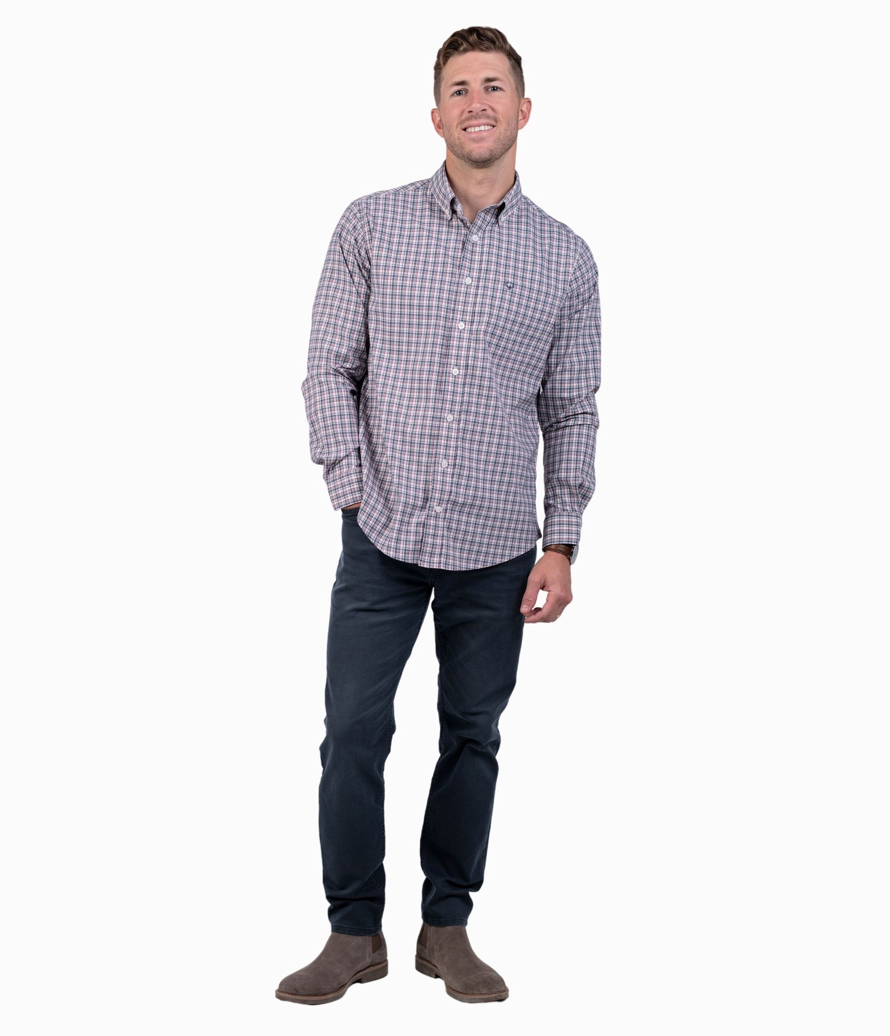 Southern Shirt Tanner Plaid LS Performance