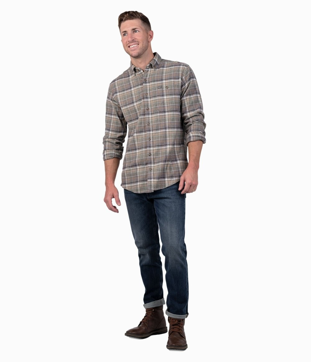 Southern Shirt Tahoe Heather Flannel LS
