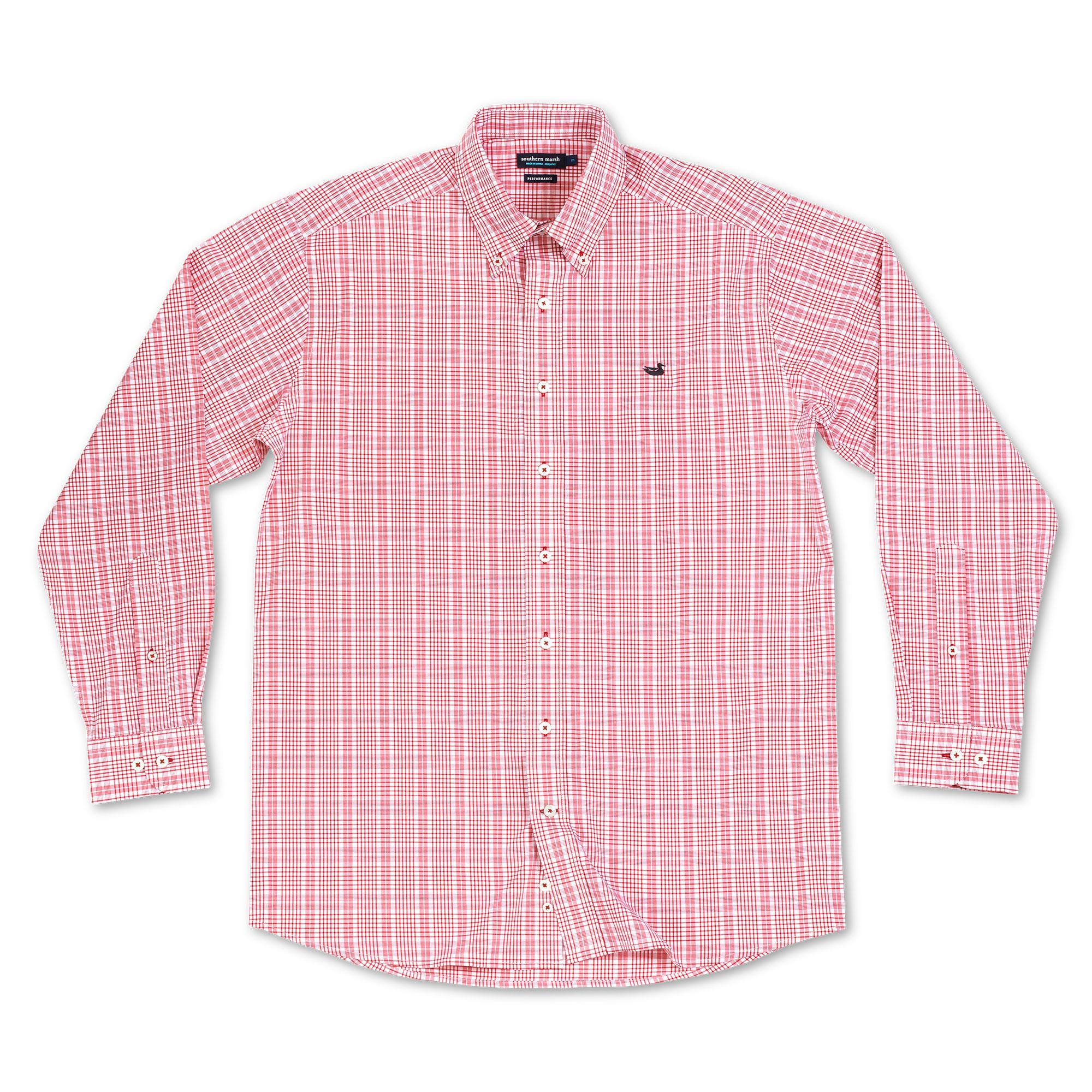 Southern Marsh Shenandoah Performance Check Dress Shirt