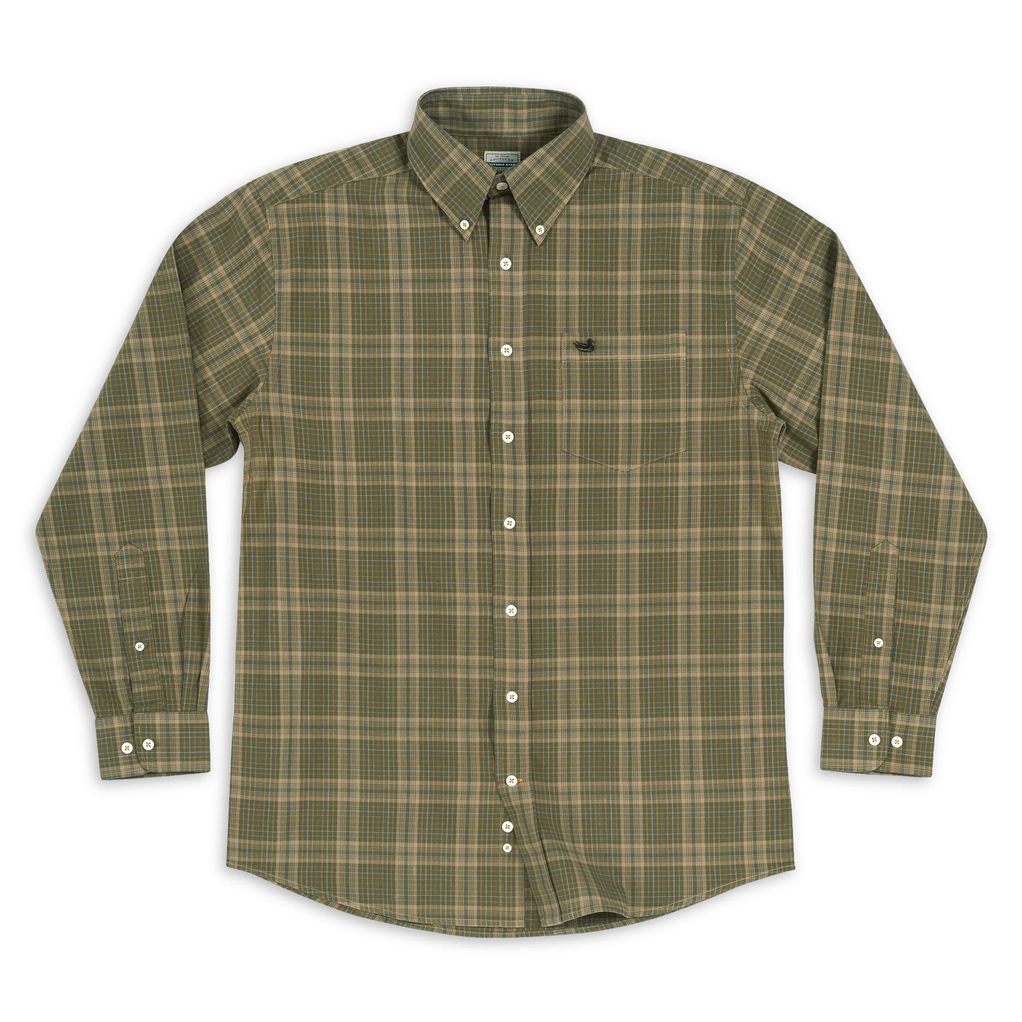 Southern Marsh Verret Washed Check Dress Shirt