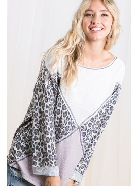 Animal print mix and matched top