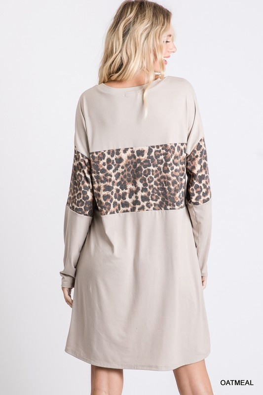 Jodifl Leopard Long Sleeve Dress