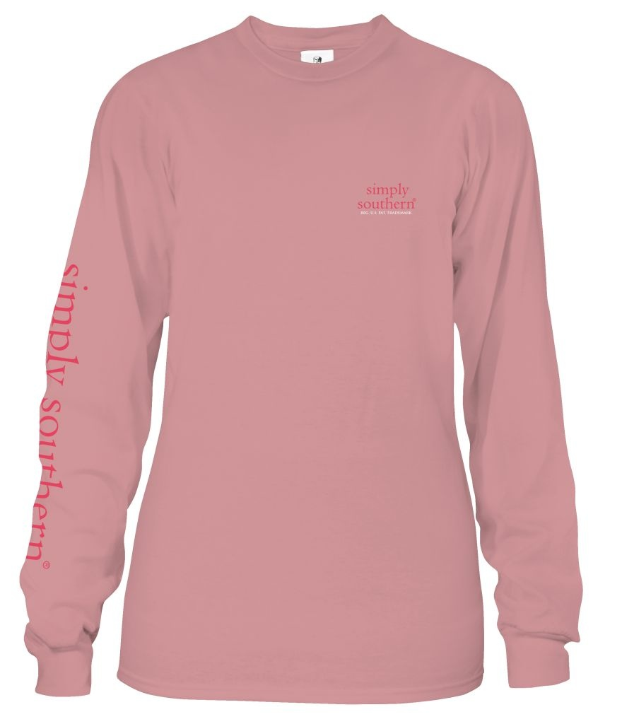 Simply Southern Collection Sweet Tea and Waffle Fries Long Sleeve T-Shirt - Crepe