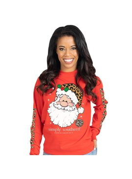 Simply Southern Collection Falalala Long Sleeve T-Shirt - Red