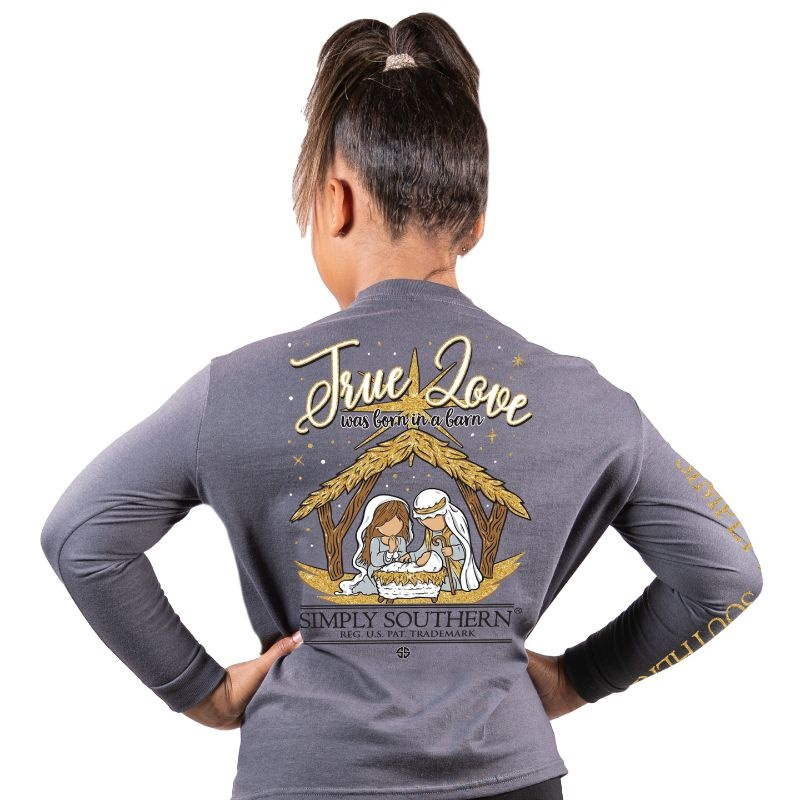 Simply Southern Collection Youth - True Love Long Sleeve T-Shirt - Iron