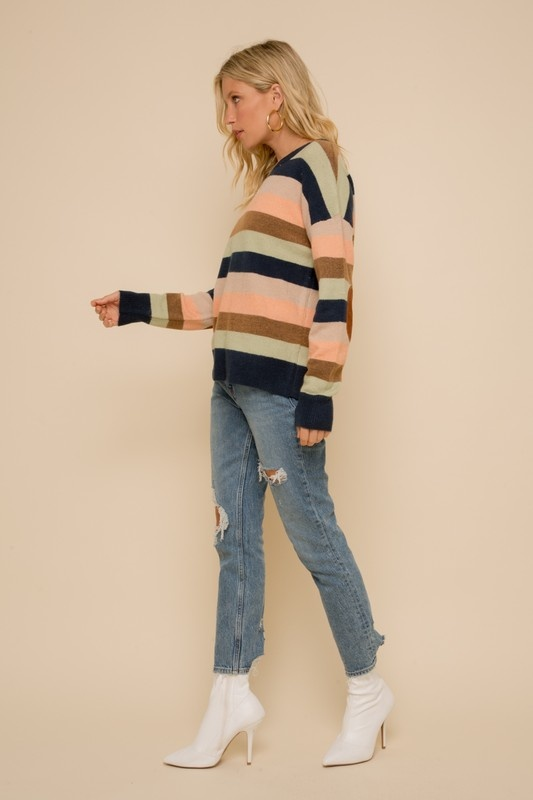 Patch Sleeve Sweater