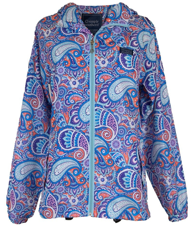 Simply Southern Collection Simply Southern Print Rain Jacket