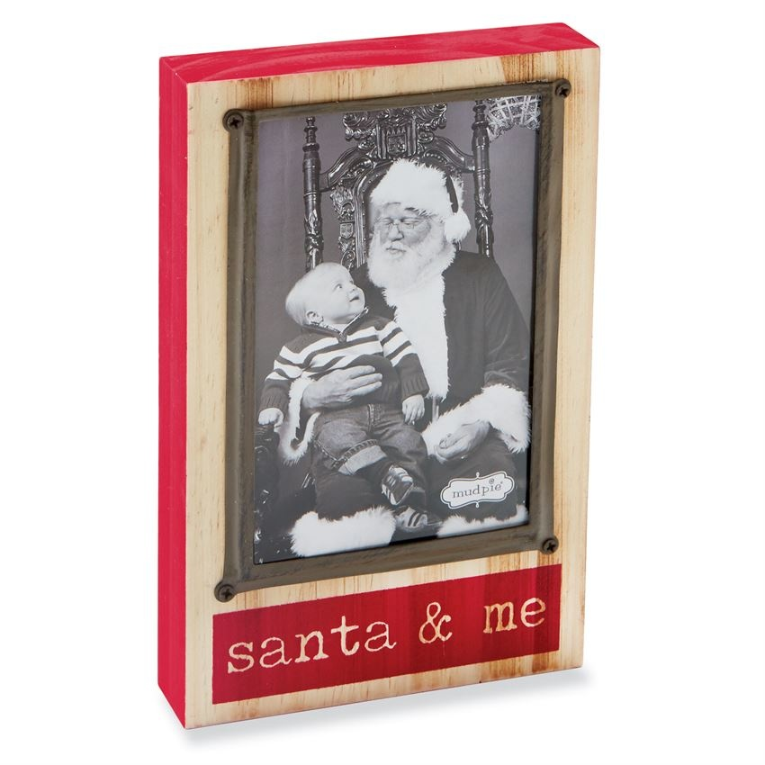 Block Santa And Me Frame