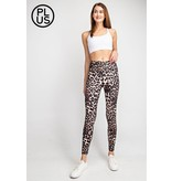 Rae Mode Plus Animal Print Full Length Yoga Pants