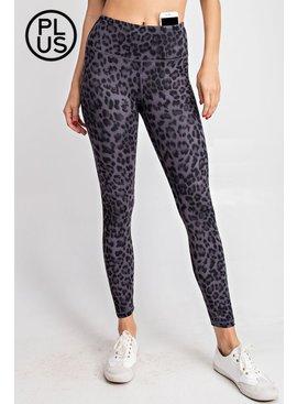 Rae Mode Plus Animal Print Full length Yoga Pants