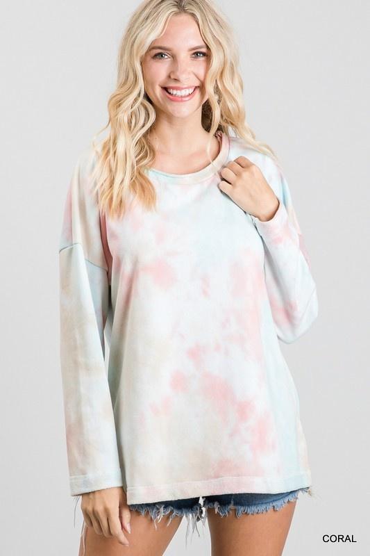 Jodifl Pastel Tie-Dye Long Sleeve Top