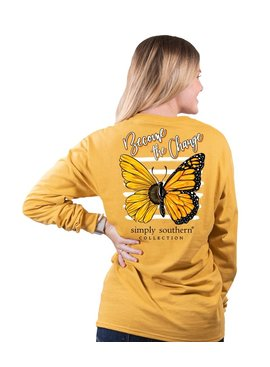 Simply Southern Collection Become The Change Long Sleeve Tee