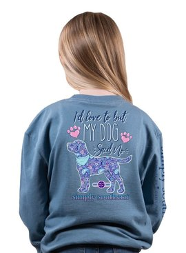 Simply Southern Collection YOUTH My Dog Said No Long Sleeve Tee