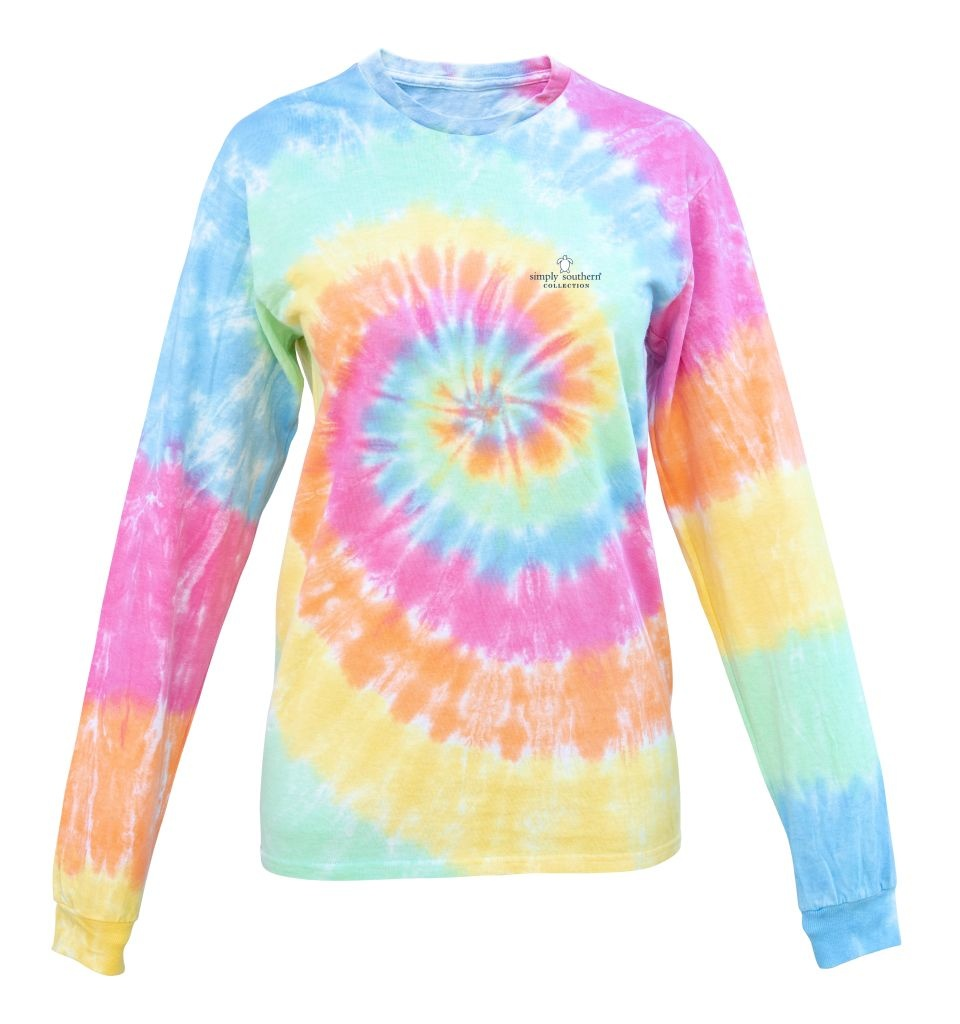 Simply Southern Collection Youth Keep The Sea Plastic Free Long Sleeve T-shirt - Tiedye