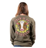 Simply Southern Collection Suck It Up Buttercup Long Sleeve T-Shirt - Moss