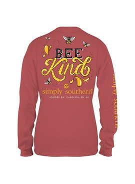 Simply Southern Collection Bee Kind Long Sleeve T-Shirt - Spice